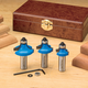 Rockler 3-Pc. Roundover/Beading Router Bit Set - 1/2
