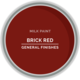 GF Milk Paint, Brick Red, Pint