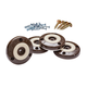 Slipstick® Grippers with Tilt-n-Slide, Chocolate, 4-Pack, 2'' Dia.