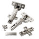 Salice 105° Long Arm Hinges, Frameless, Nickle Finish