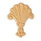 Bendix Embossed Fan Ornament