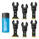 6-Piece Universal-Fit Multi-Tool Blade Pack, STORM Bi-Metal