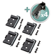 Rockler Workbench Caster Kit with Quick-Release Plates
