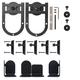 Rolling Barn Door Hardware Kit, Black, Horseshoe