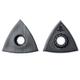 Fein Starlock Triangular Sanding Pads, No Holes, 2-Pack