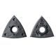 Fein Starlock Triangular Sanding Pads With Holes, 2-Pack