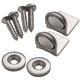 Angle-Mount Stainless Steel Magnetic Catch