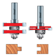 Freud® 99-036 Adjustable Tongue & Groove Router Bit Set - 1/2