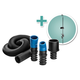 Dust Right FlexiPort Power Tool Hose Kit with Cord and Hose Holder, 3' to 12' Expandable