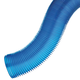 4'' Dia. Dust Right® Hose, 2' L Compressed, Extends to 14' L