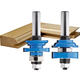 Rockler Bead In-Stile and Rail Router Bit Set - 1/2