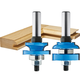 Rockler Round-Edge Matched Stile and Rail Router Bit Set - 1-5/8