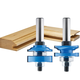 Rockler 2-Pc. Ogee Stile and Rail Router Bit Set - 1-5/8