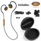 Orange ISOtunes® Pro Noise-Isolating Bluetooth® Earbuds, 27 dB NRR