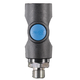 Prevost Safety Series Push-Button Air Coupler, 1/4'' Male NPT