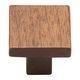 Walnut Square Knob, 1 3/8