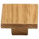Oak Square Knob, 2 x2''