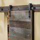 I-Semble Rolling Door Hardware Kit, Bent Strap, Black