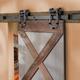 I-Semble Rolling Door Hardware Kit, Horseshoe, Black