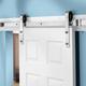 I-Semble Rolling Door Hardware Kit, Bent Strap, Stainless Steel