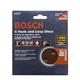 Bosch 5'' 8-Hole Hook & Loop Sandpaper, 6-Piece Assortment