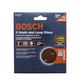 Bosch 5'' 8-Hole Hook & Loop Sandpaper, 5-Pack, 320-Grit