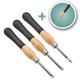 3-Piece Mini Ergonomic Carbide Turning Tool Set with Bonus Square Radius Tool