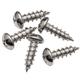 #10 x 5/8'' Round-Head Nickel-Plated Screws, 400-Pack