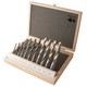11-Piece HSS Fisch Dual-Spur Dual-Cutter 4-Flute Brad Point Drill Set, Metric