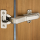 Silentia® Frameless Soft-Closing 45° Corner Hinges
