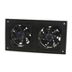 Active Thermal Management Small Equipment Cabinet Fan System 8-1/2''L x 4-3/8''H 1-1/4''D