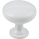 White Tempo Cabinet Knob 1-3/16'' D