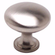 Brushed Nickel Euro Moderno Knob