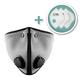 M2 Mesh Face Masks with Bonus 3-Pack HEPA Filters, Titanium