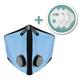 Large M2 Mesh Face Mask with Bonus 3-Pack Filters, Sky Blue