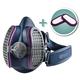 GVS Elipse P100 Half Mask Respirator with 2 Bonus Filters, Medium/Large