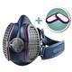 GVS Elipse P100 Half Mask Respirator with 2 Bonus Filters, Small/Medium
