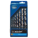 7-Piece HSS Brad Point Drill Bit Set, Imperial