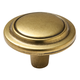 Antique Brass English Lexington Knob