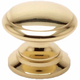 Berenson Plymouth Knob, Round, 5284-303-P - Solid Brass