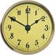 3'' Clock Face, Gold/Arabic Numerals
