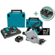 Makita 18V X2 Brushless Cordless 6-1/2'' Plunge-Cut Circular Saw Kit with Additional 2-Pack of 5.0Ah Batteries (4 Total)