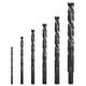 6-Piece Black-Oxide Brad Point Drill Bit Set