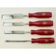 Two Cherries - Bevel Edge Chisel-Plastic Handle Set/4