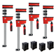 Bessey REVOlution Parallel Clamp/Framing Kit with (2) 24'', (2) 40'' and KP Blocks