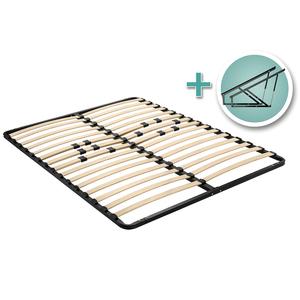 Diy Bathroom Shelf Ideas, Platform Bed Lift Mechanism With Full Size Mattress Platform And Wooden Slats Rockler