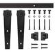 4' Wedge Mini Rolling Door Hardware Kit for Furniture, Black