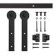 Keyhole Mini Rolling Door Hardware Kit for Furniture, Black