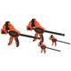 Jorgensen Clamp Pack, (2) 4'' Hobby Clamps and (2) 6'' Medium-DutyE-ZHoldExpandable Bar Clamp/Spreaders