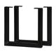 U-Shaped  Welded Steel Table Leg Set,